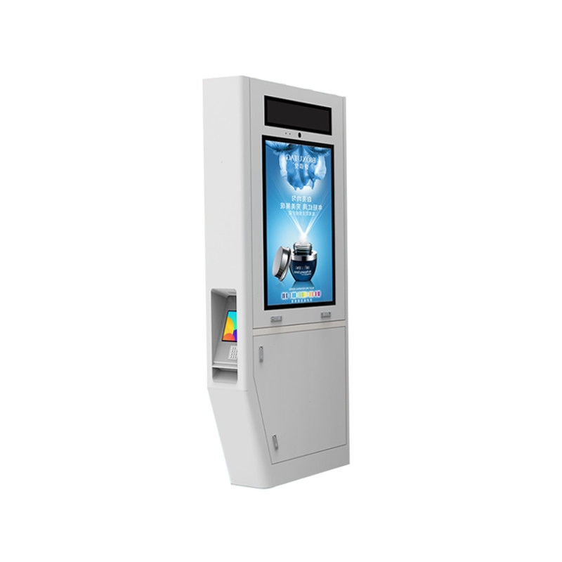 Wide View Angle Outdoor Advertising LCD Display Touch Screen Public Phone Booth